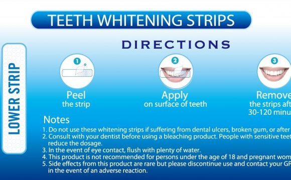 Dissolvable teeth whitening strips