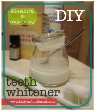 all-natural DIY teeth whitener