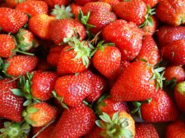 Strawberries - Fried dough