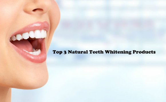 Natural teeth whitening products